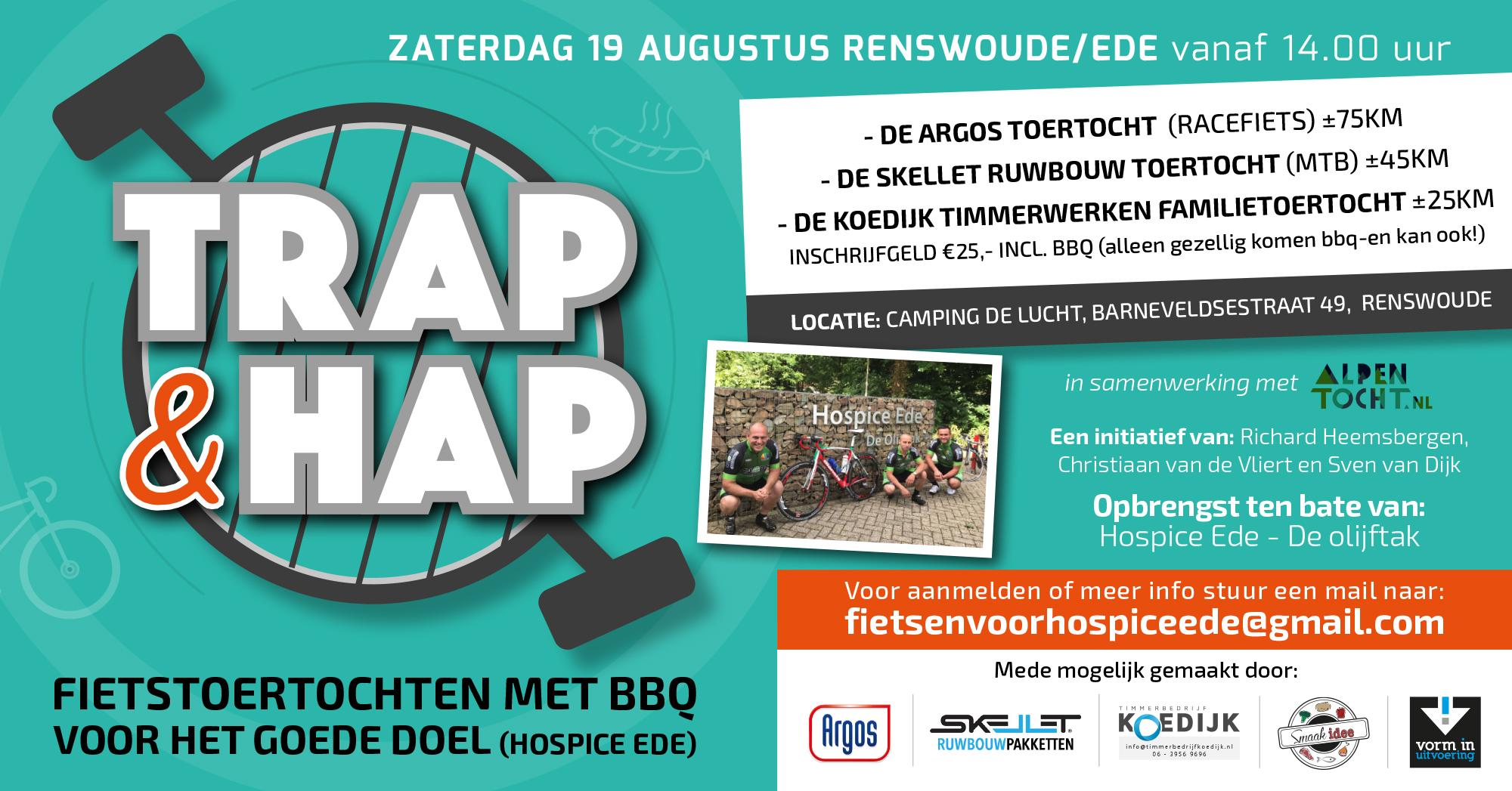 trap & hap fietstoertocht met BBQ